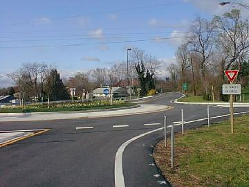 American small roundabout at Baltimore near University