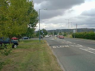 Looking east across the junction from some distance