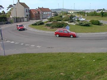 General view of french roundabout